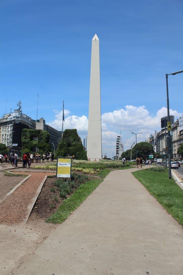 Obeleisk города Буэноса-Айрес стоковые фотографии rf