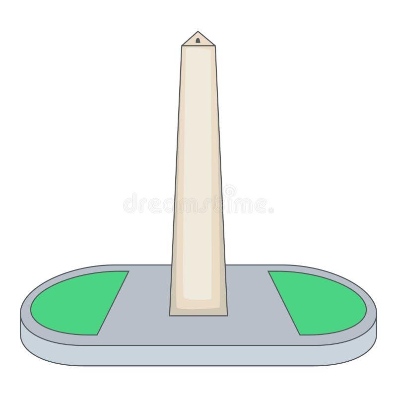 Obelisco av Buenos Aires, Argentina symbol royaltyfri illustrationer