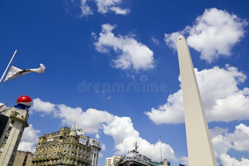 Obelisco. Buenos Aires, Argentinien lizenzfreie stockbilder