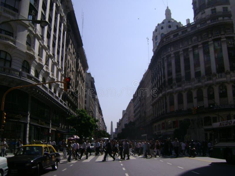 Obelisco Buenos Aires de Argentina imagem de stock royalty free