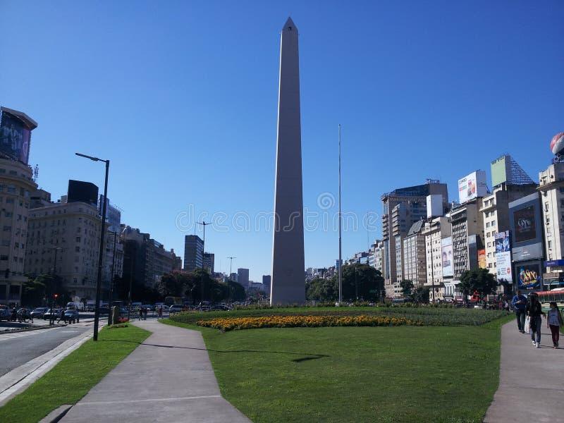 Obelisco de布宜诺斯艾利斯阿根廷 库存照片
