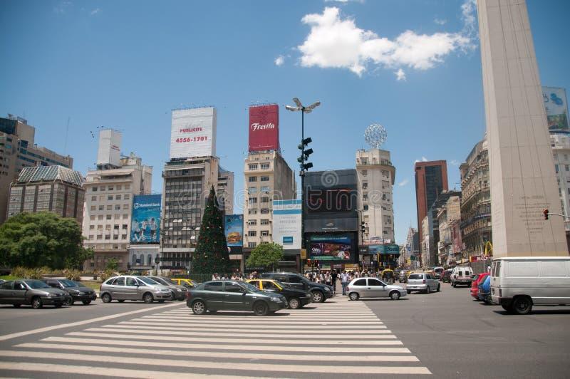 Obelisco de Buenos Aires stock photos