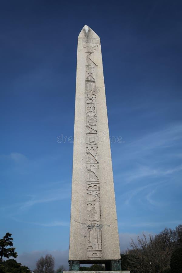 Obelisco de Theodosius em Istambul, Turquia fotografia de stock royalty free