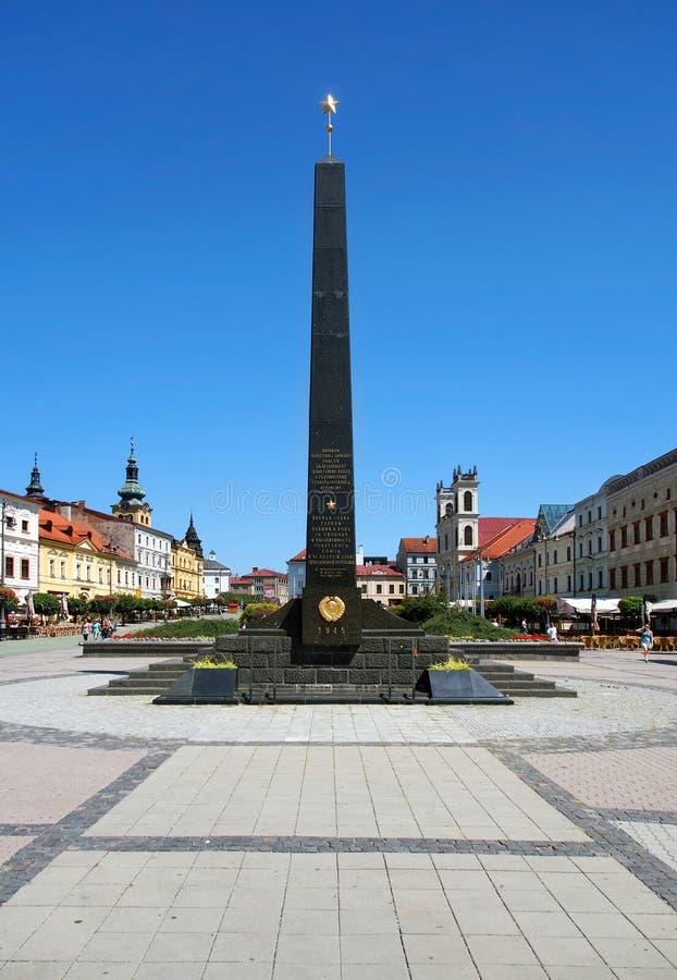 Obelisco dei soldati sovietici in Banska Bystrica immagine stock