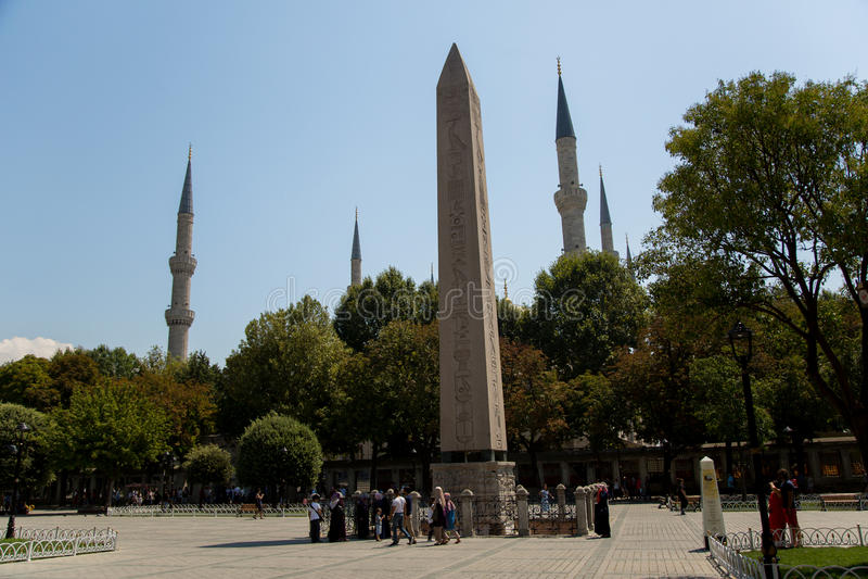 Obelisco do obelisco de Theodosius Egyptian foto de stock