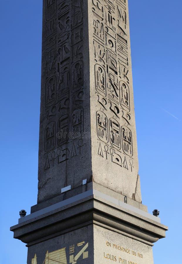 Obelisco en la plaza de la Concordia imagenes de archivo