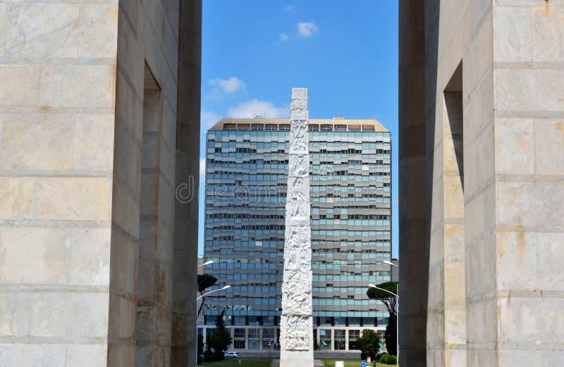 Obelisco EUR fotografía de archivo