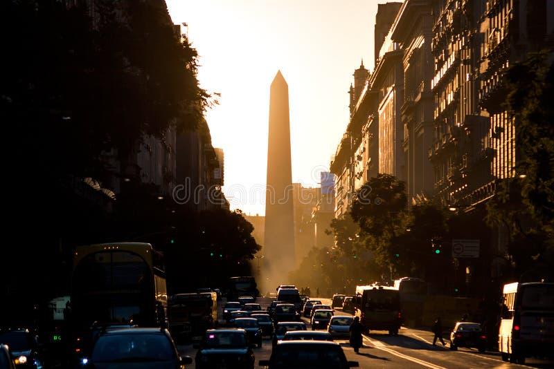 Obelisco (obelisco), Buenos Aires Argentina imagens de stock