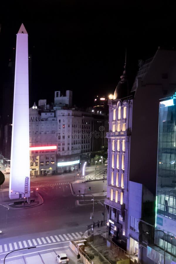 Obelisk av staden av Buenos Aires, Argentina arkivbilder