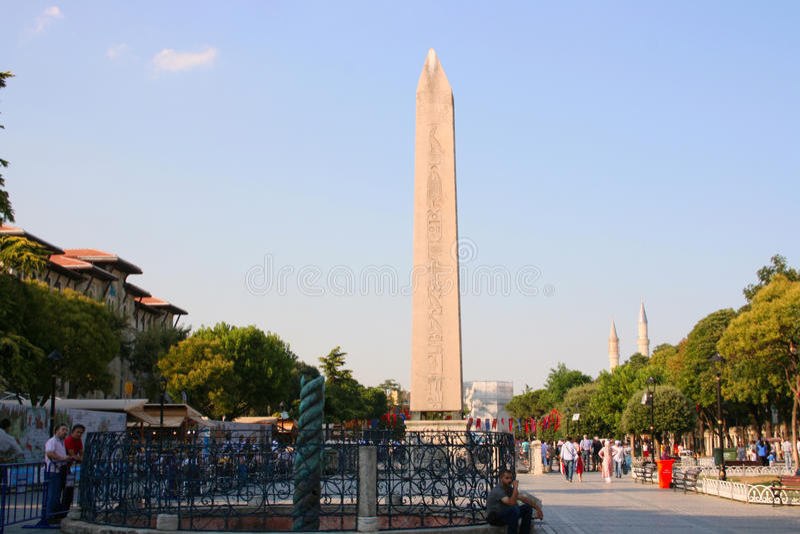 Obelisk av Theodosius royaltyfria foton