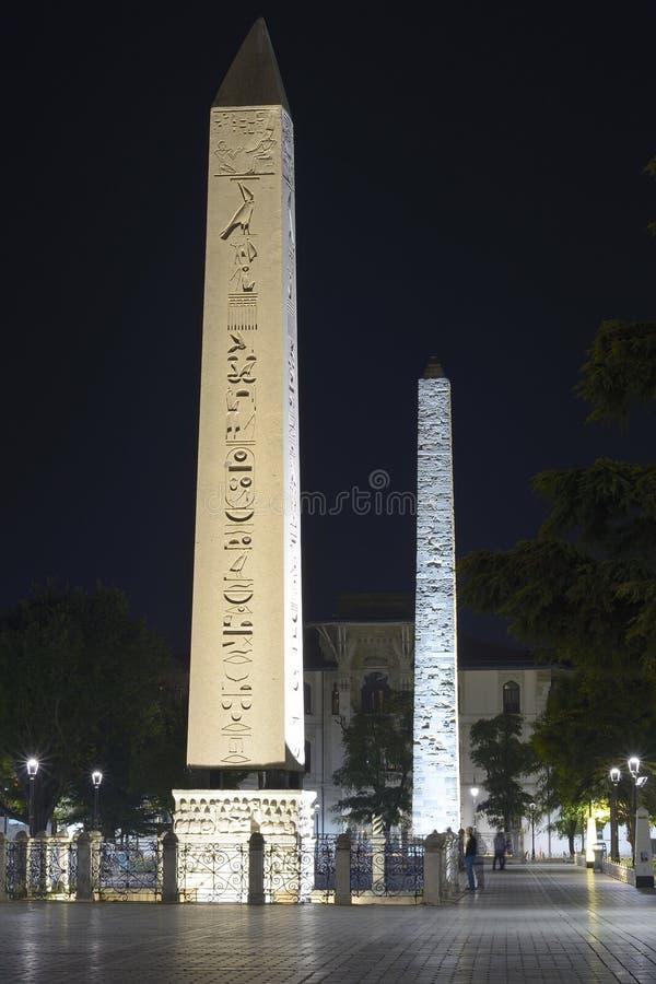 Obelisk av Theodosius royaltyfri foto