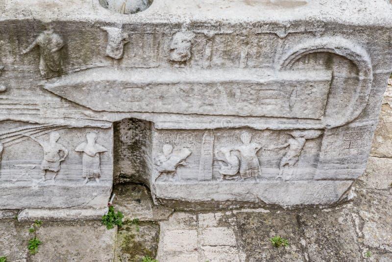 Obelisk av Theodosius eller egyptisk obelisk i Istanbul fotografering för bildbyråer