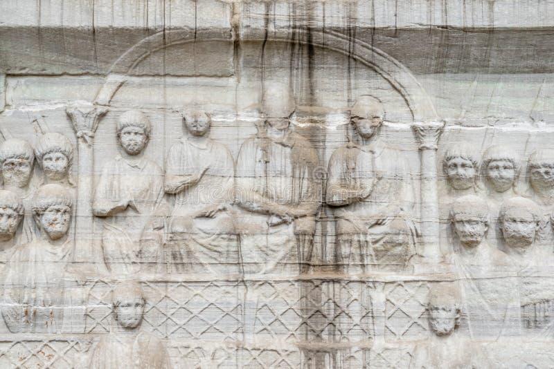 Obelisk av Theodosius eller egyptisk obelisk i Istanbul royaltyfria foton