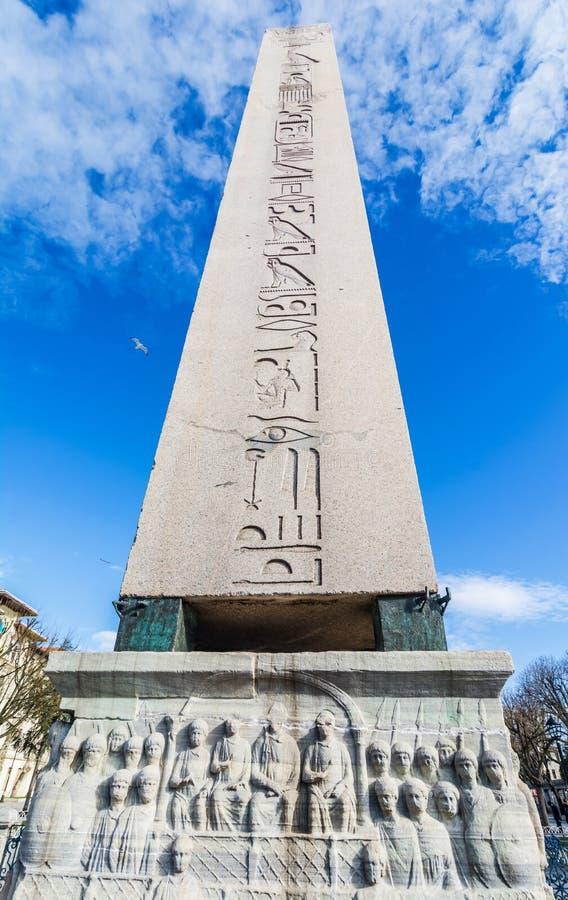 Obelisk av Theodosius, Istanbul, Turkiet fotografering för bildbyråer