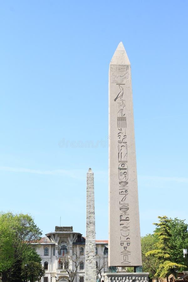 Obelisk av Theodosius och den Walled obelisken royaltyfri bild