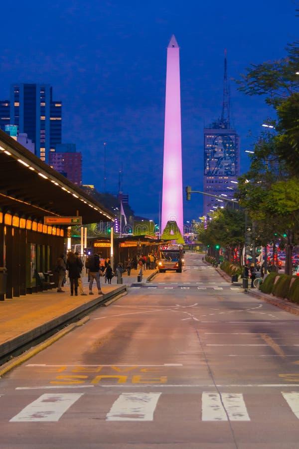 Obelisk Buenos Aires Argentina royaltyfria bilder