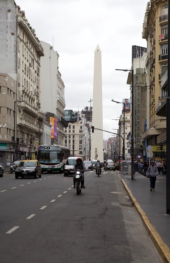 Obelisk of Buenos Aires, Argentina stock photography