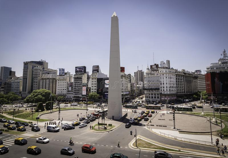 obelisk of Buenos Aires, the center of the country. stock photo
