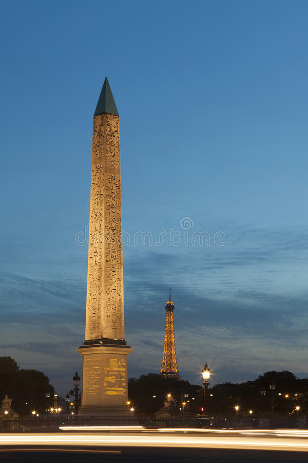 Obelisk, Concorde-Quadrat, Paris lizenzfreies stockbild