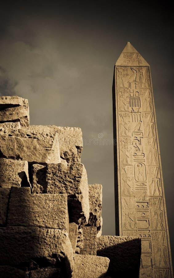 Obelisk de Hatshepsut, Karnak, Egipto fotos de stock royalty free