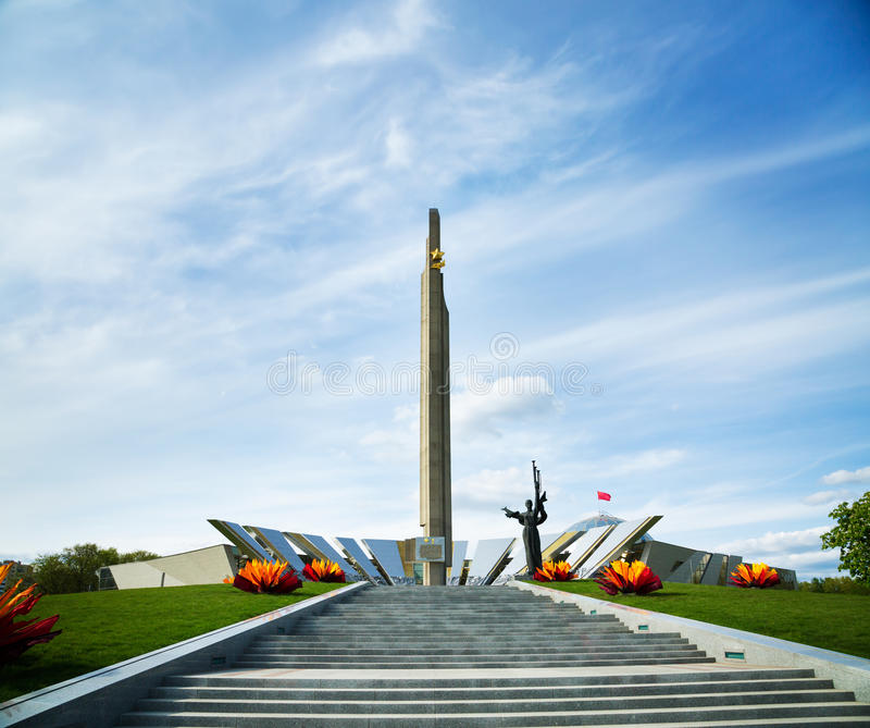 Download Obelisk Hero City Minsk In Belarus Stock Image - Image of star, stairway: 40449203