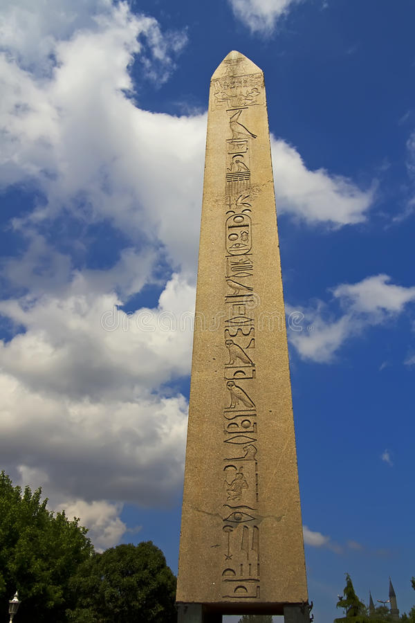 Obelisk in Istanbul Sultanahmet. This is a famous historic Obelisk in Istanbul Sultanahmet royalty free stock images
