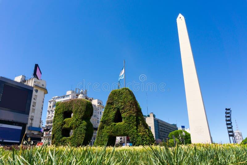 Obelisco, Obelisk, Buenos Aires Argentinien royalty free stock photos