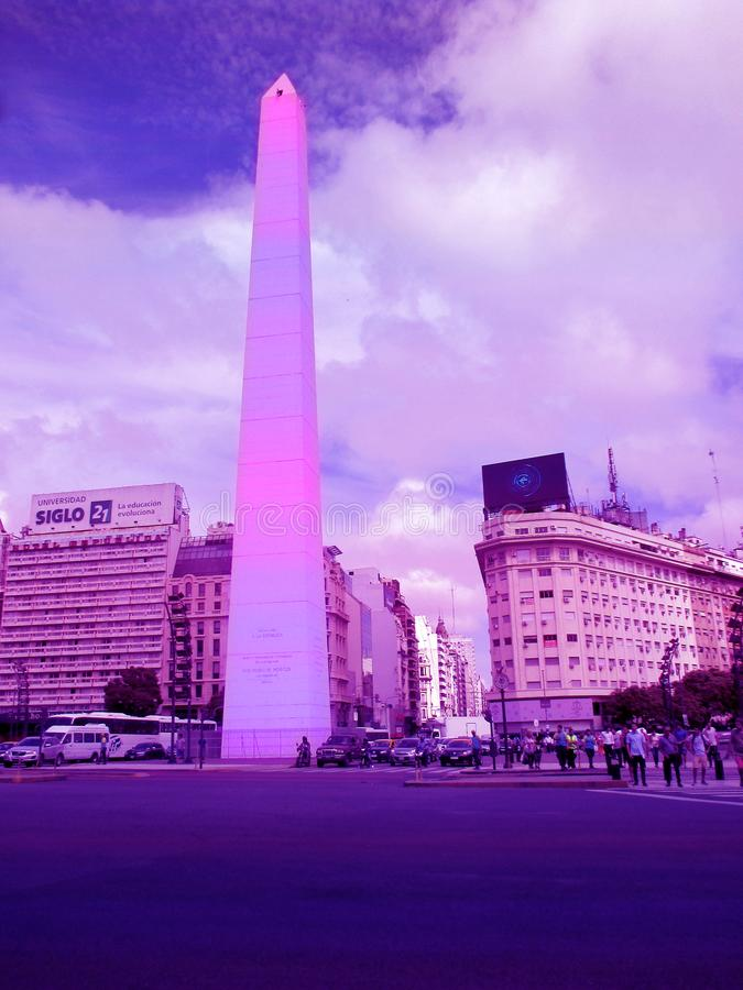 Free Obelisk Of Buenos Aires In Ultraviolet Royalty Free Stock Photo - 112066195