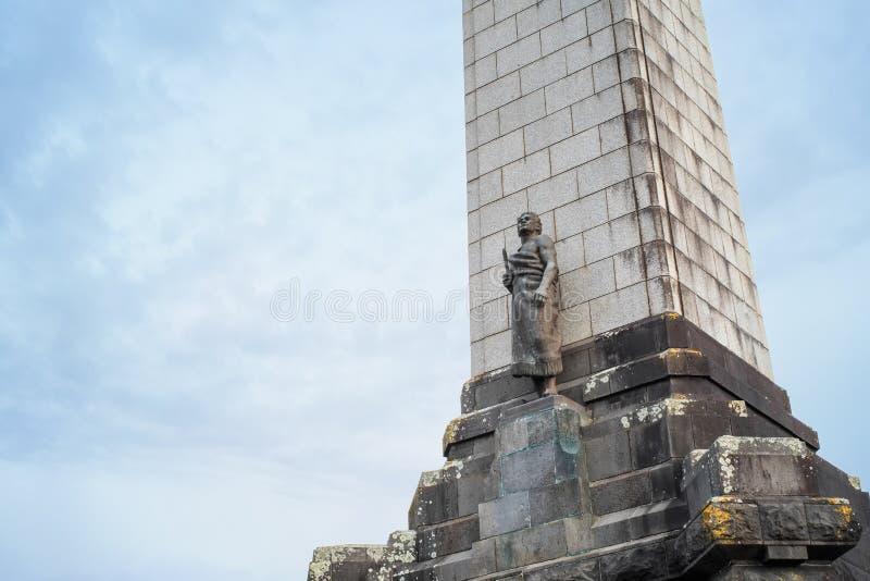 Obelisk op Één boomheuvel in Auckland stock foto's
