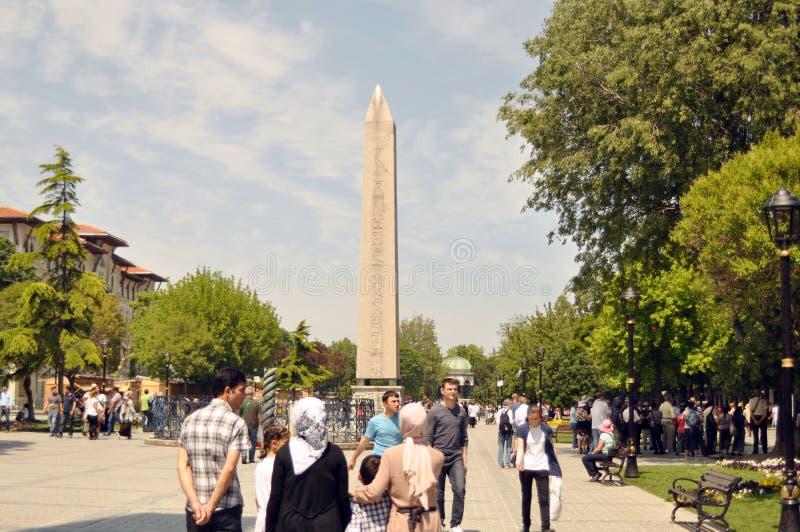 Obelisk przy hipodromem w Istanbuł fotografia royalty free