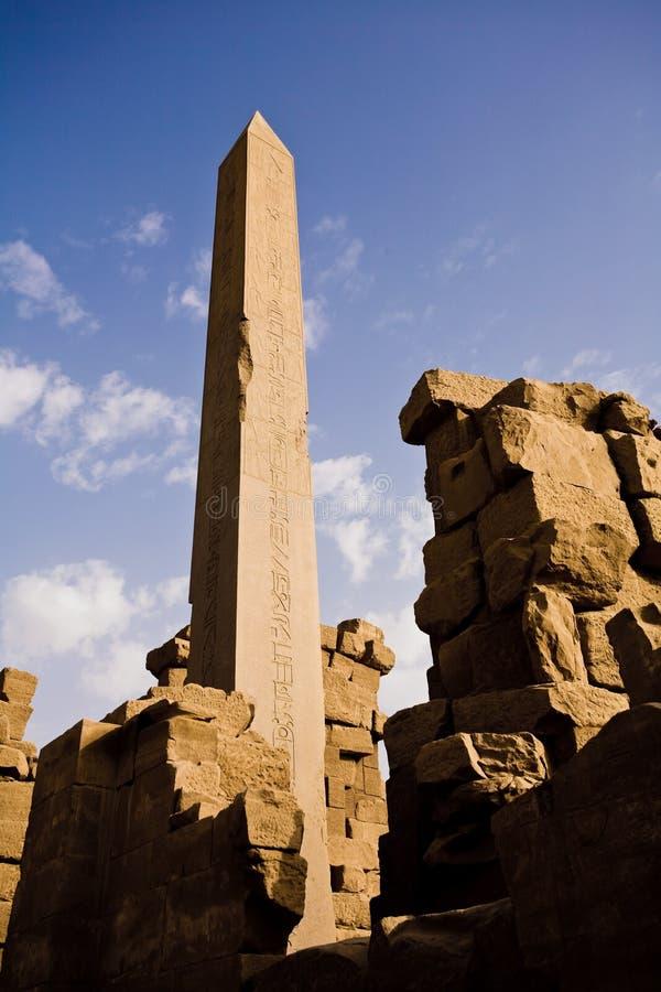 Obelisk przy Karnak świątynią zdjęcie royalty free