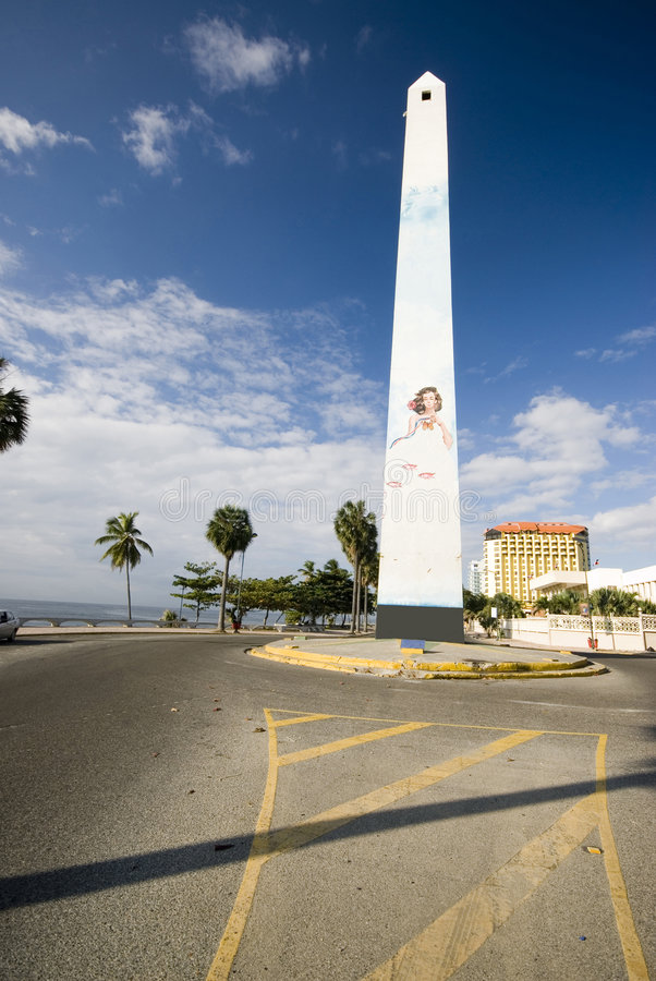 Obelisk santo domingo. The obelisk on the malecon boulevard santo domingo dominican republic stock photography