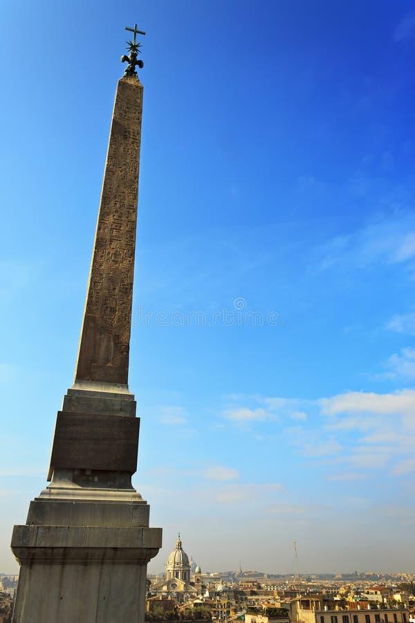 Obelisk at Spanish Steps royalty free stock photos