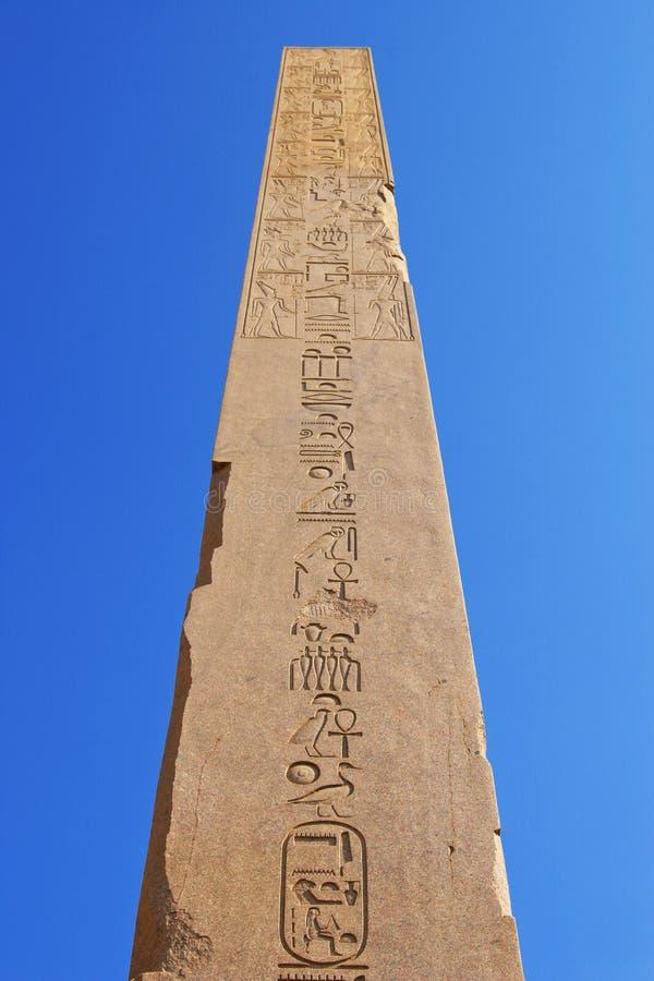 Obelisk, tempiale di Karnak (Egitto, Africa) fotografie stock