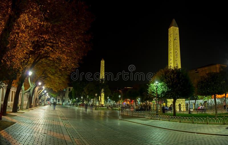 Obelisk Theodosius i Izolujący obelisk obraz royalty free