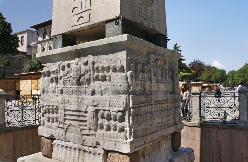 Obelisk of Theodosius, Istanbul royalty free stock image