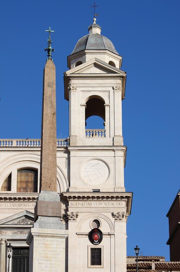 Obelisk of Trinita' dei Monti in Rome royalty free stock image