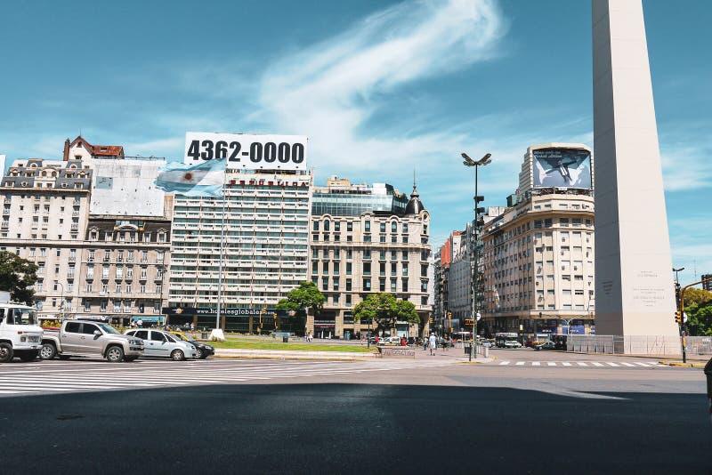 Obelisk van Buenos aires in Argentini? royalty-vrije stock afbeelding