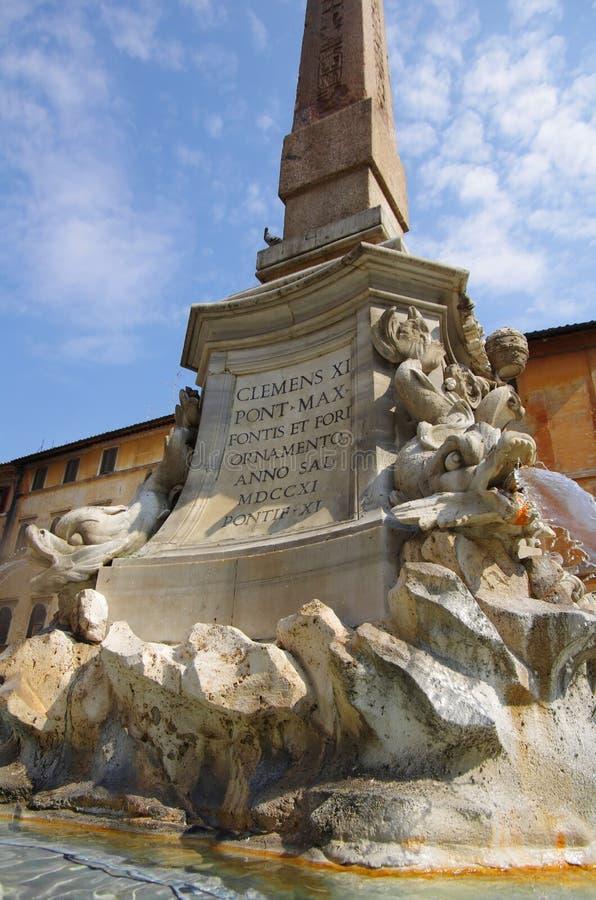 Obelisk voor het Pantheon royalty-vrije stock afbeelding
