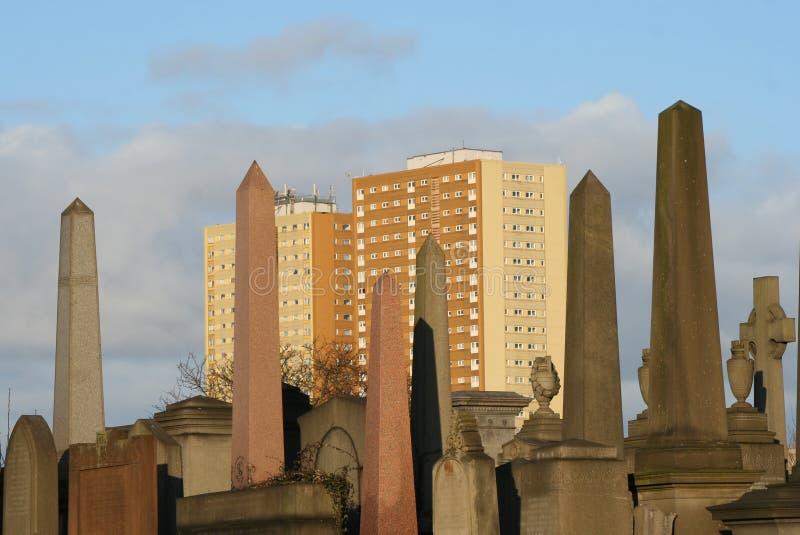 Obelisken van Necropool stock foto's