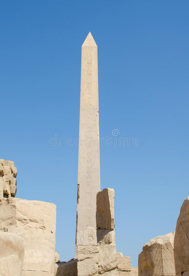 Obelisks at the Karnak Temple in Luxor. Egypt stock photography