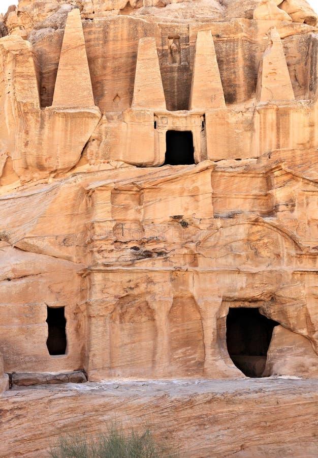 Obelisku grobowiec przy Petra obrazy royalty free