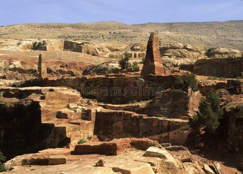 obelisku petra zdjęcie royalty free