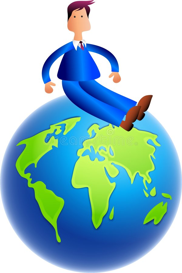 Oben auf die Welt lizenzfreie abbildung