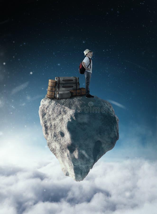 Oben genannte Wolken reisen lizenzfreies stockfoto