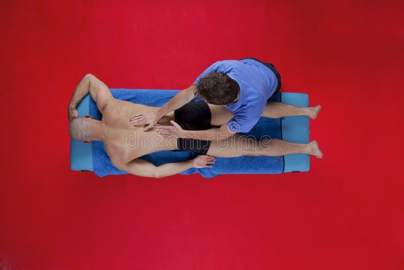 Obenliegende Ansicht der Massage lizenzfreies stockbild