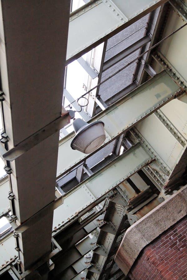 Obenliegende Stahlarbeit und Support stockfotografie