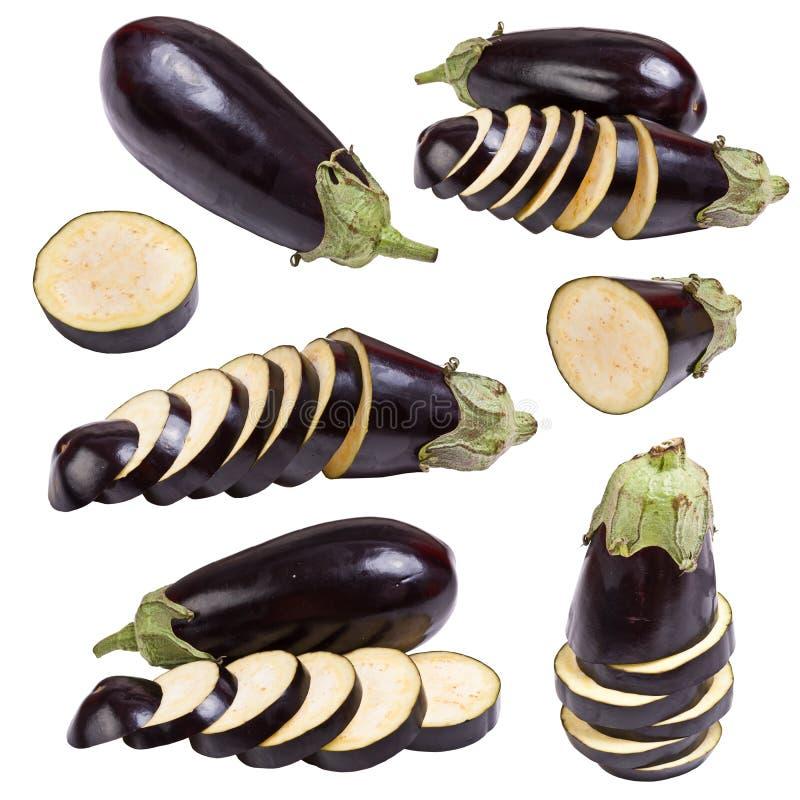 oberżyny owoc ustawiający warzywo obrazy stock