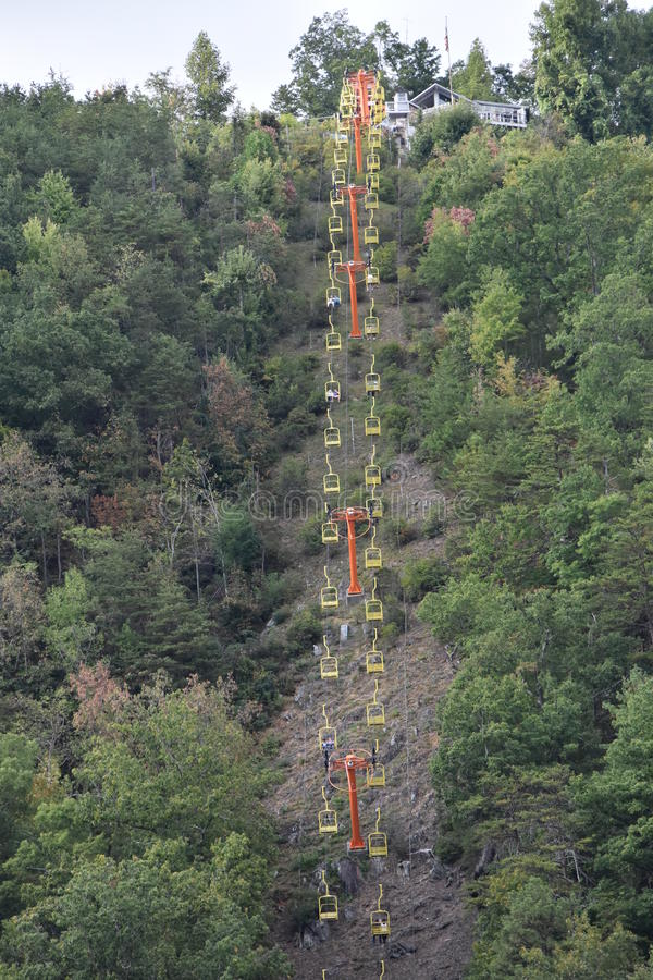 Download Ober Gatlinburg Ski Lift In Downtown Gatlinburg In Tennessee Stock  Photo   Image Of Smoky