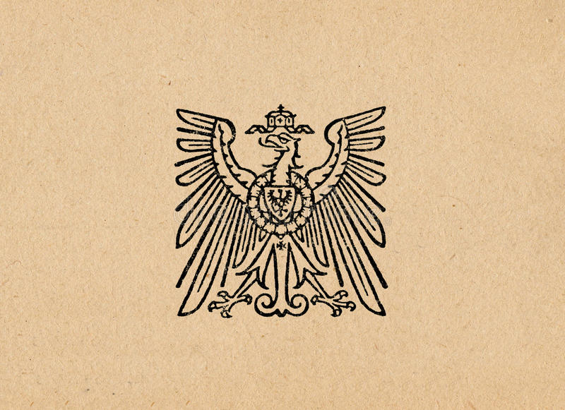 Ober Ost German Reich eagle ww2 stock image